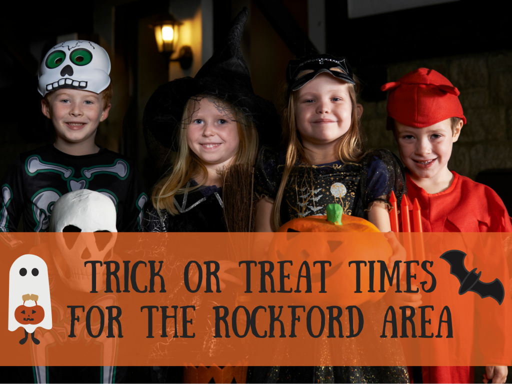 2018 Trick or Treat times in the Rockford area