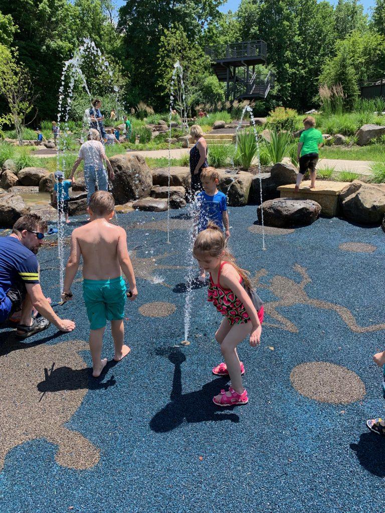 Klehm Arboretum splash pad Rockford, IL