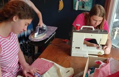 These Local Siblings Made Masks for Community Members