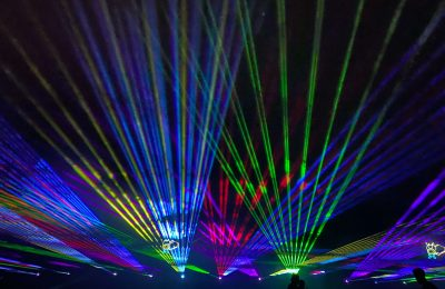 Check out the Drive-In Laser Light Show in Woodstock This Weekend